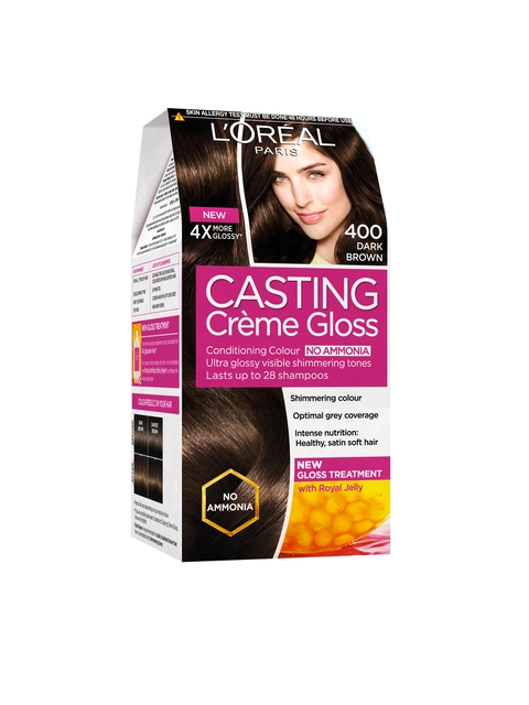 LOreal Paris Casting Creme Gloss Dark Brown Hair Colour 400