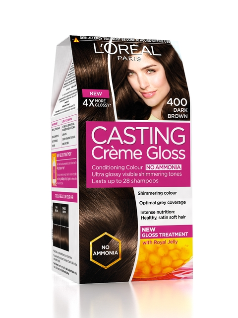 Loreal Paris Casting Creme Gloss Hair Color - Dark Brown 400