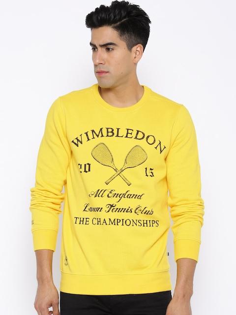 Solly Sport by Allen Solly Yellow Wimbledon Sweatshirt