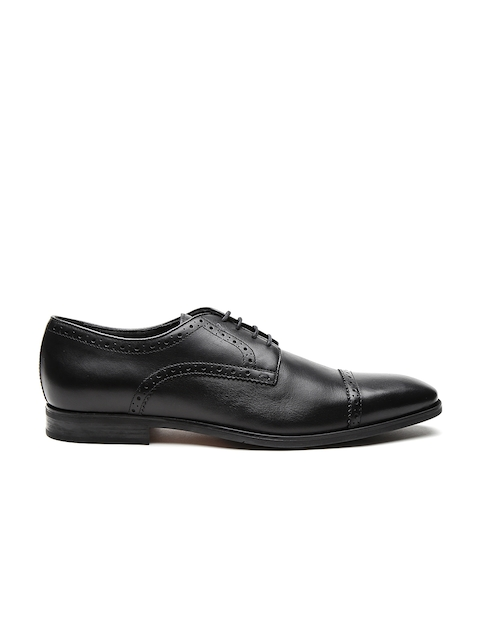 GEOX Respira Men Black Breathable Italian Patent Leather Formal Shoes