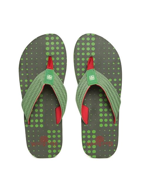 Woodland ProPlanet Men Green Printed Flip-Flops