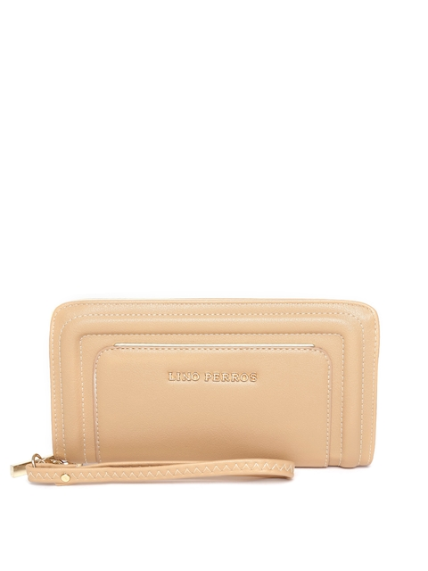 Lisa Haydon for Lino Perros Women Beige Textured Wallet