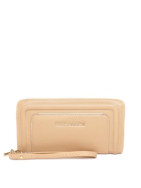 Lino Perros Women Beige Textured Wallet