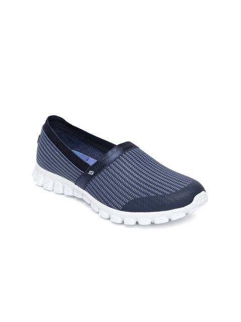 Skechers Women Blue EZ Flex 2 - Get Movin Walking Shoes
