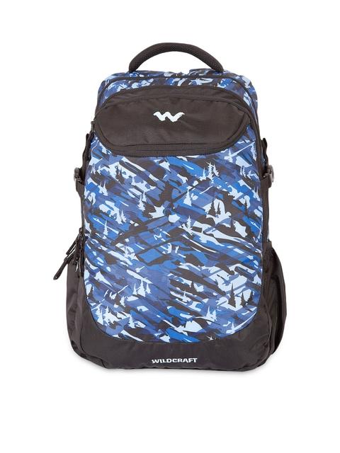 Wildcraft Unisex Black Printed Camo 5 Backpack