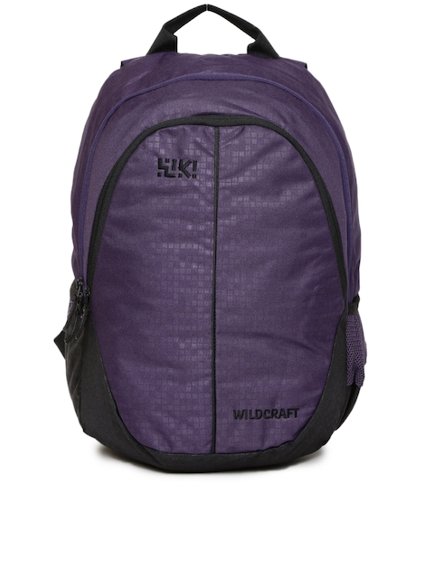 Wiki by Wildcraft Unisex Purple Colourblocked Bricks Backpack