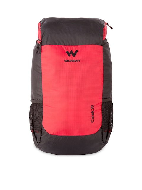 Wildcraft Unisex Black & Red Rucksack