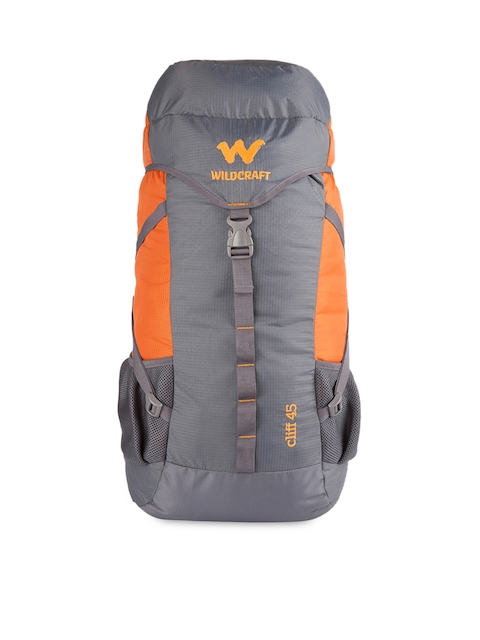 Wildcraft Unisex Grey & Orange Rucksack  available at myntra for Rs.2099