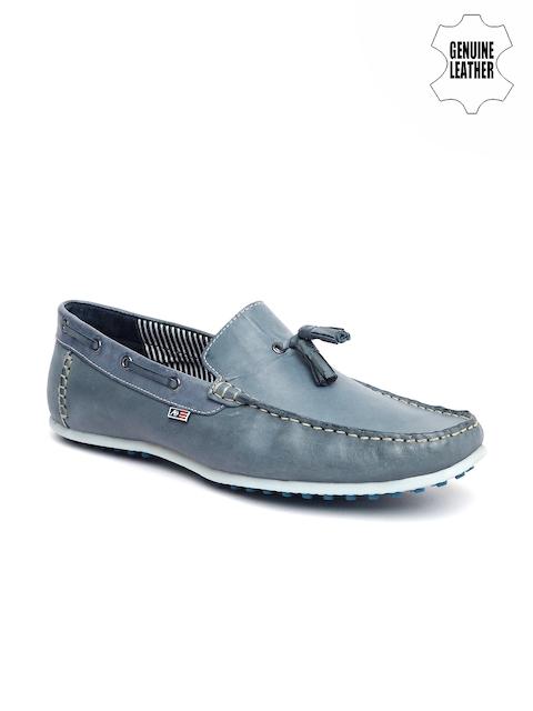 Arrow Men Blue Genuine Leather Loafers