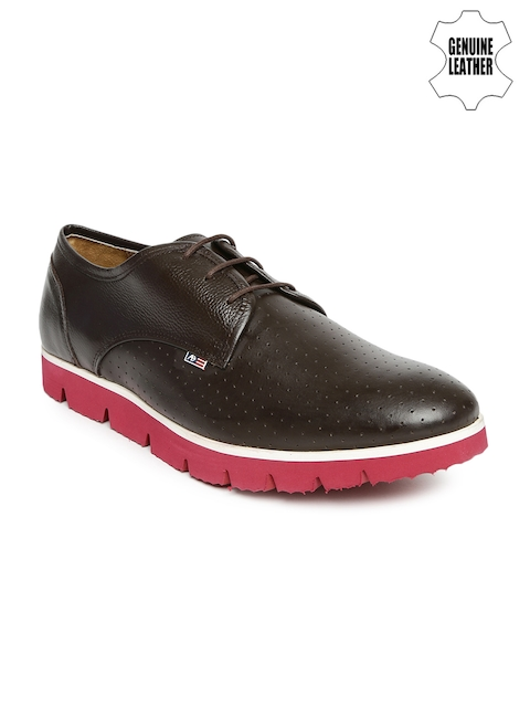 Arrow Men Brown Genuine Leather Casual Shoes