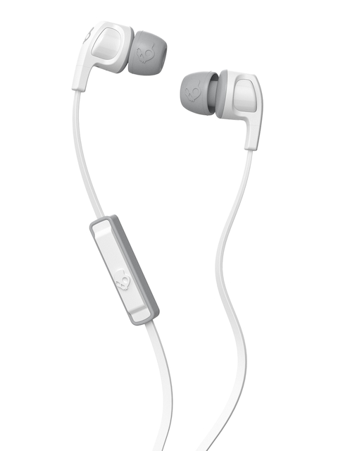 Skullcandy White Smokin' Buds 2 Earbuds with Mic