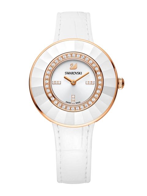 SWAROVSKI Women Octea Dressy White & Rose Gold-Toned Watch