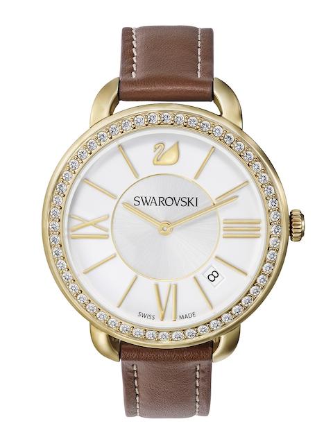 SWAROVSKI Women Aila Day Brown Yellow Gold-Toned Watch
