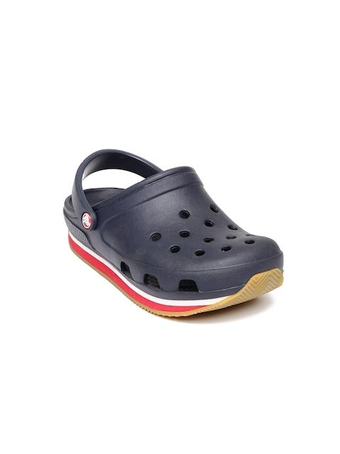 Crocs Kids Navy Retro Clogs