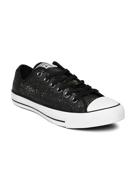 Converse Women Black Chuck Taylor Sequinned Sneakers