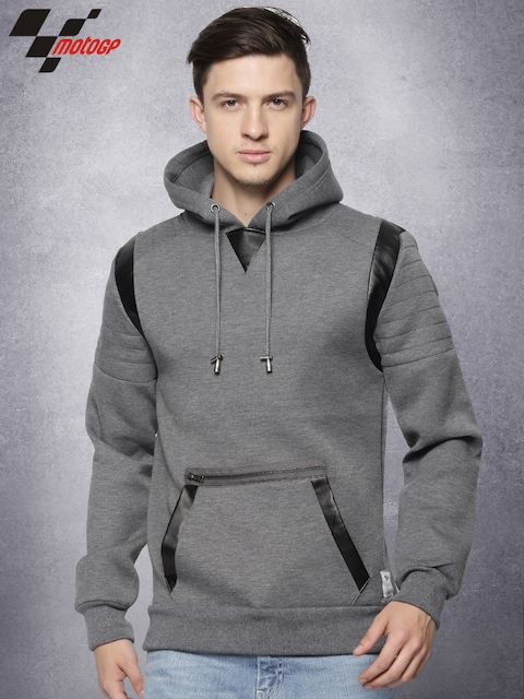 RDSTR Moto GP Charcoal Grey Hooded Pullover Sweatshirt