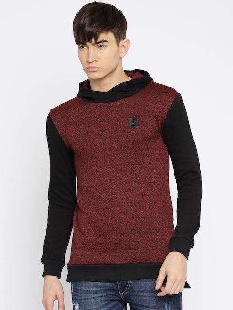 RDSTR Maroon & Black Hooded Sweatshirt