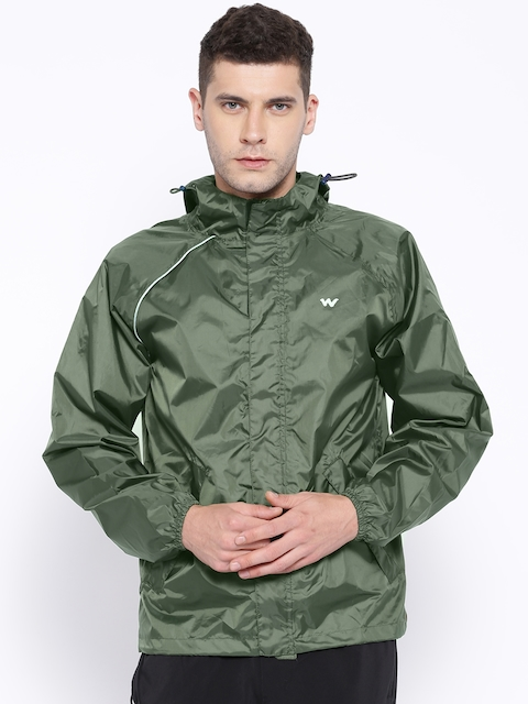 Wildcraft Olive Green Polyester Rain Jacket