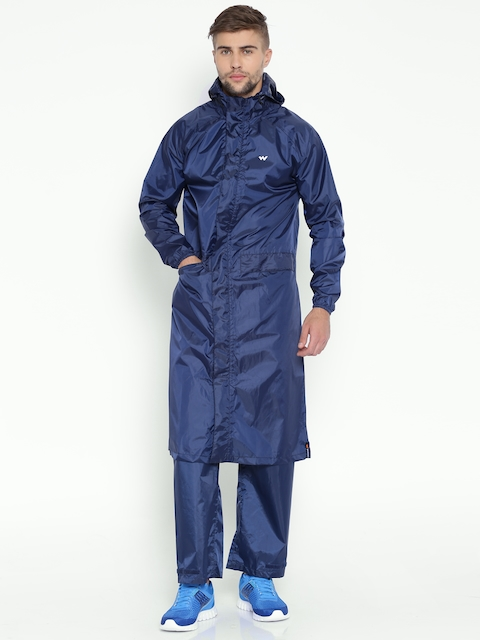 Wildcraft Navy Hooded Rain Jacket