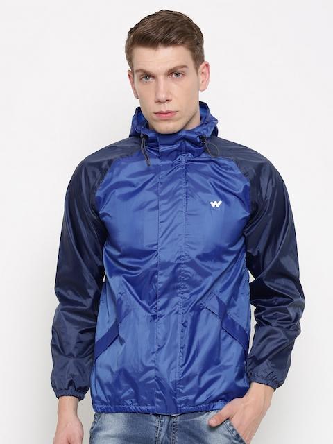 Wildcraft Blue Rain Hooded Jacket