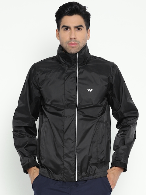 Wildcraft Black Hooded Rain Jacket