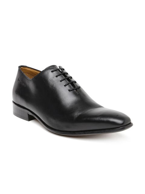 Hush Puppies Men Black Leather Derby Formal Shoes