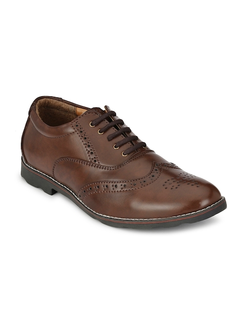 Prolific Men Brown Formal Shoes