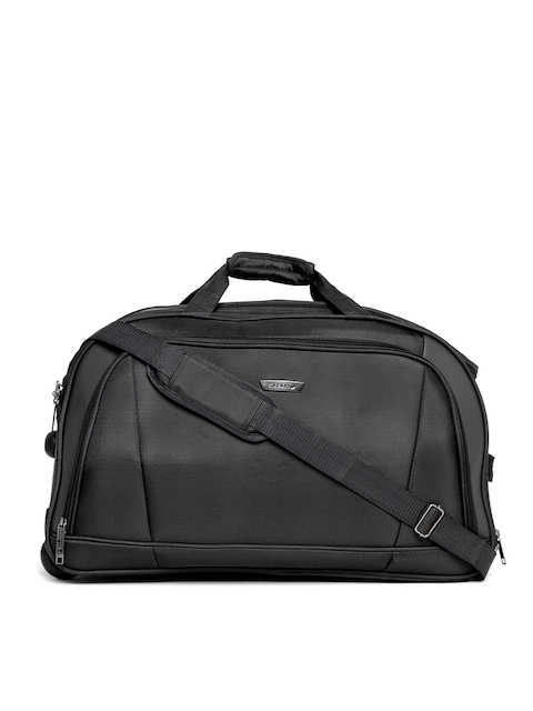Safari Unisex Torch Black Duffel Trolley Bag