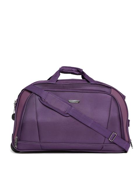 Safari Unisex Purple Trolley Duffel Bag