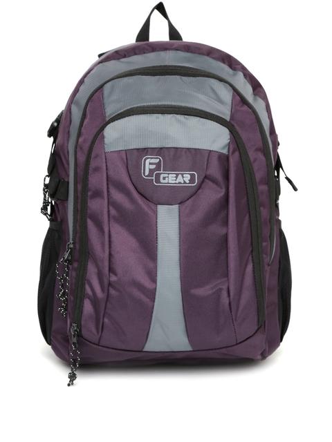 F Gear Unisex Purple & Grey Areena V2 Backpack