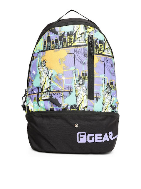 F Gear Unisex Multicoloured Printed Backpack
