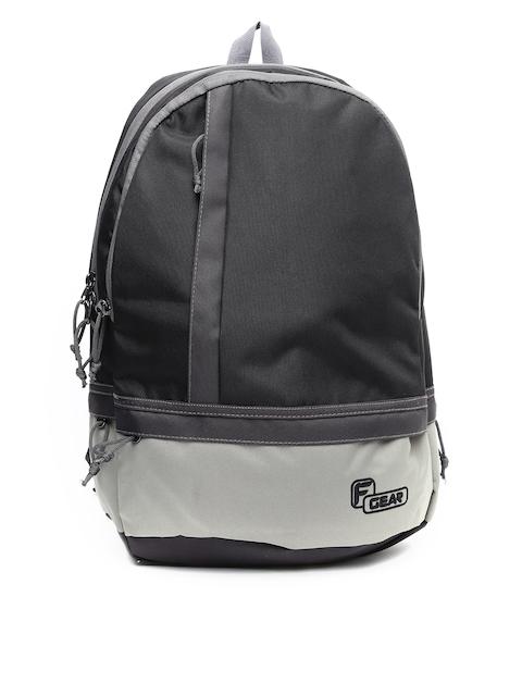F Gear Unisex Black & Grey Colourblocked Burner Backpack