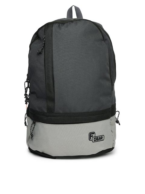 F Gear Unisex Black & Grey Burner Backpack