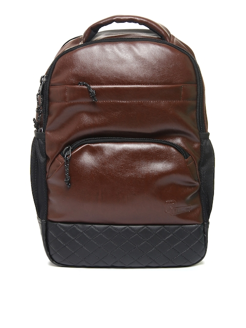 F Gear Unisex Brown Luxur Laptop Backpack