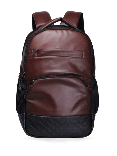 F Gear Unisex Brown Luxur Laptop Backpack