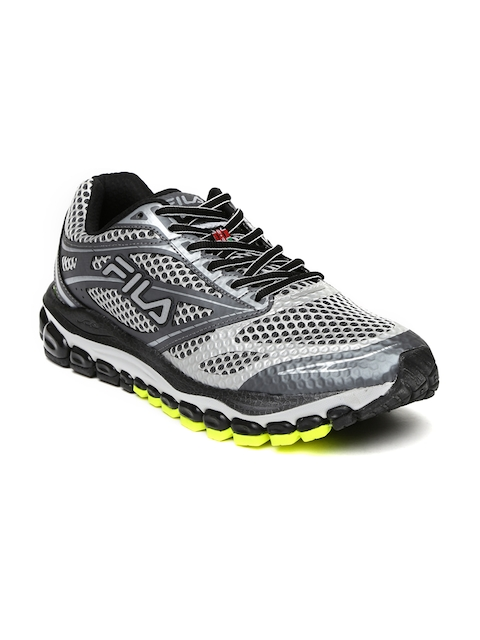 FILA Men Silver-Toned & Grey Kasi Running Shoes  available at myntra for Rs.8399