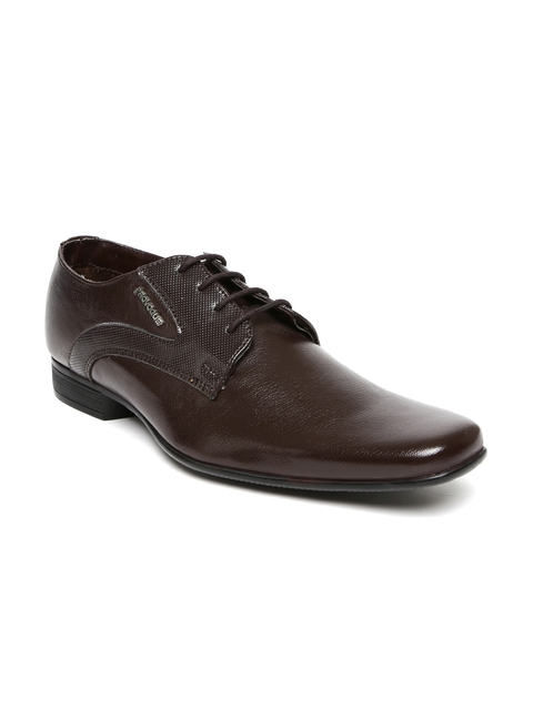 Provogue Men Brown Derby Formal Shoes