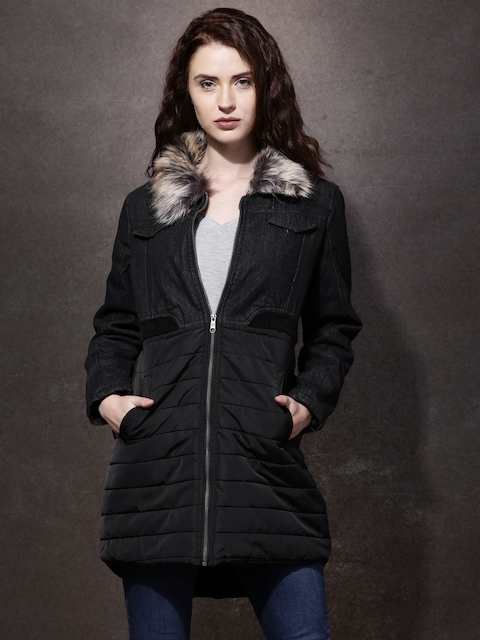 Roadster Black Parka Longline Jacket