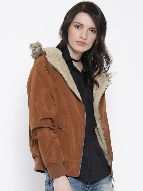 Roadster Brown Hooded Parka Jacket
