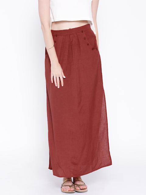 Anouk Red Maxi Skirt  available at myntra for Rs.599