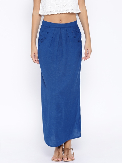 Anouk Blue Maxi Skirt  available at myntra for Rs.479