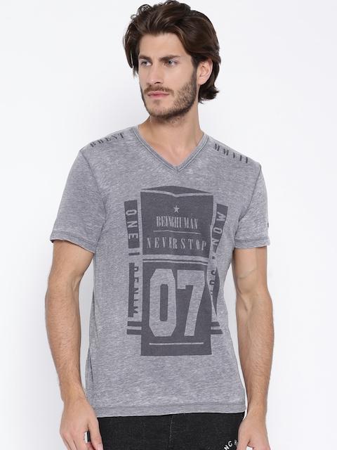 Being Human Clothing Grey Printed T-shirt