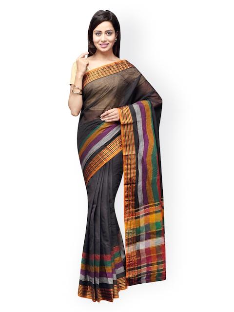 Pavechas Black Venkatgiri Cotton Traditional Saree