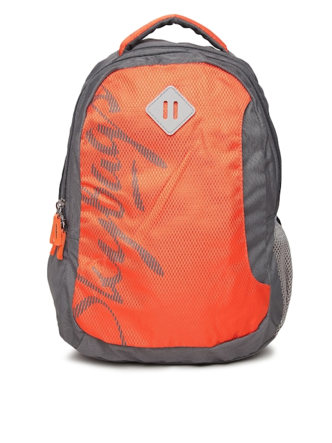 Skybags Unisex Orange & Grey Footloose Leo Printed Backpack  available at myntra for Rs.880