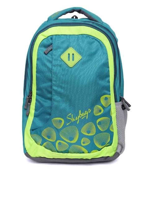 Skybags Unisex Teal Blue Printed Footloose Leo 02 Backpack