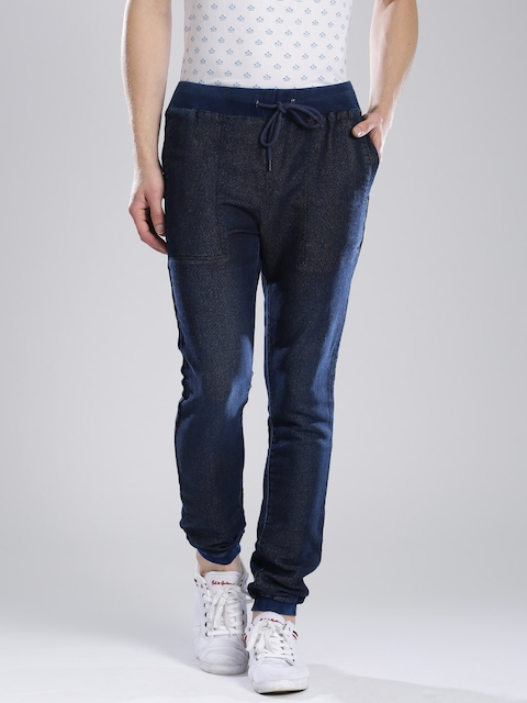French Connection Navy Textured Jogger Trousers