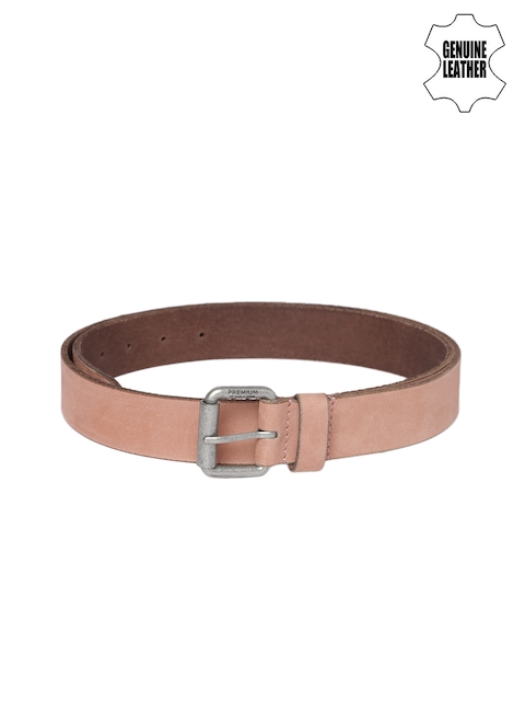 Jack & Jones Men Brown Genuine Leather Belt