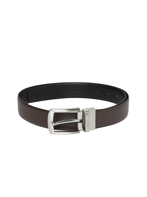 INVICTUS Men Black & Brown Reversible Leather Belt
