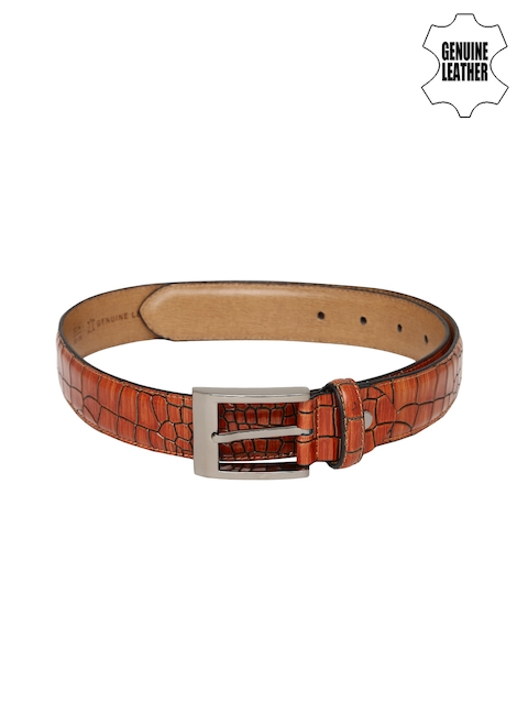 Mast & Harbour Men Brown Genuine Leather Belt