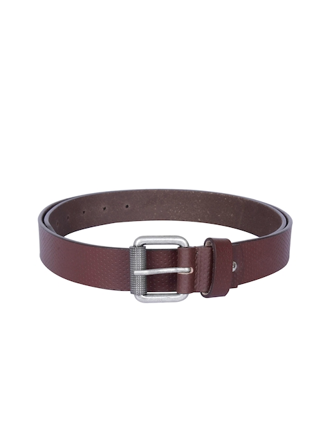 Kara Men Brown Genuine Leather Belt